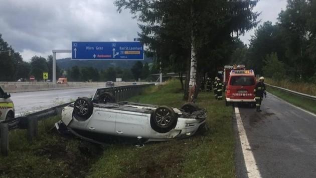 Auf der A 2 Südautobahn ereignete sich der Unfall. (Bild: Freiwillige Feuerwehr Preitenegg)