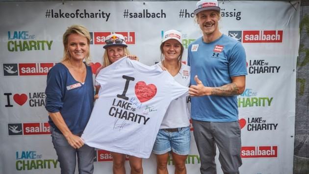 Alexandra Meissnitzer, Vali Höll, Sabrina Maier und Manuel Feller (Bild: Daniel Roos)