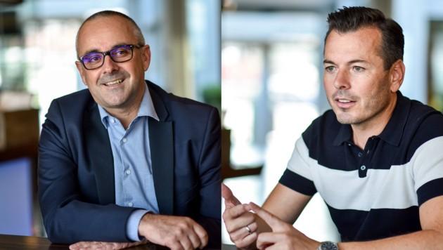 Firmenchef Christian Wimberger mit Marcus Engleder, der den Immobilien-Bereich leitet. (Bild: Markus Wenzel)