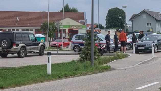 Die Verfolgungsjagd endete in Neukirchen an der Enknach (Bild: Pressefoto Scharinger © Daniel Scharinger)