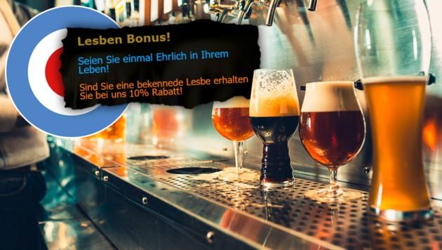 (Bild: Screenshot craftbeershop.wien, stock.adobe.com, City4U-Grafik)