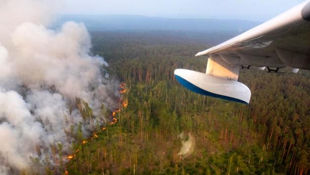 Die enorme Hitzewelle in Sibirien verstärkte das Auftauen des Permafrosts noch zusätzlich.