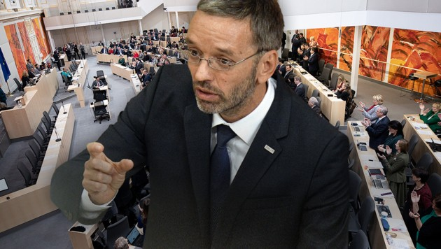 Ex-Innenminister Herbert Kickl: Der einstige Koalitionspartner ÖVP lehnt ihn ab, aber er will sein altes Amt zurück. (Bild: APA/HERBERT PFARRHOFER, APA/GEORG HOCHMUTH, krone.at-Grafik)