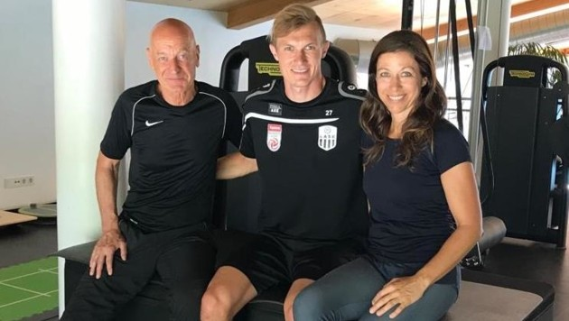 Sportwissenschafter Franz Leberbauer, Thomas Goiginger und Sporttherapeutin Sabine Schäffer (von li.) in Fuschl am See. (Bild: Leberbauer)