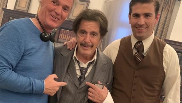 Charly und Swen Temmel flankieren Al Pacino (Bild: zVg)