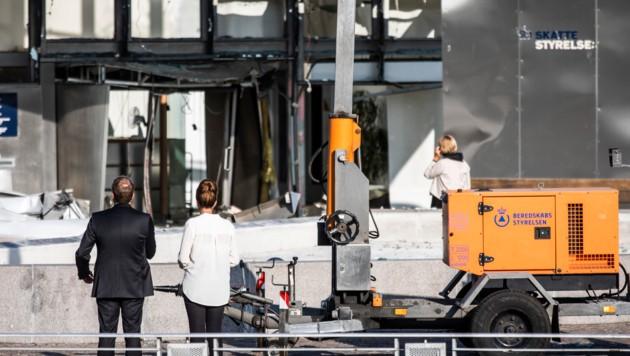 """Ermittler und dänische Regierung sprechen von einem """"Angriff"""" auf die Steuerbehörde. (Bild: APA/AFP/Ritzau Scanpix/Olafur STEINAR GESTSSON)"""