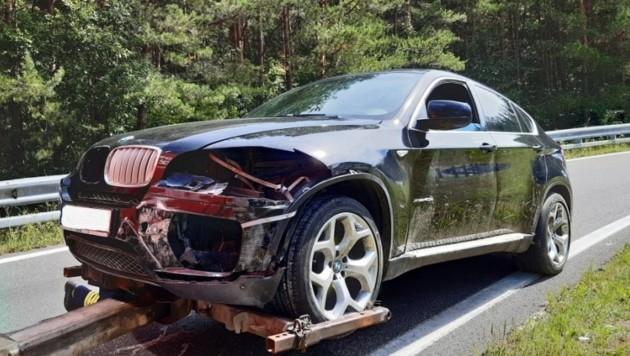 Der Unfallwagen (Bild: FF Gaaden)
