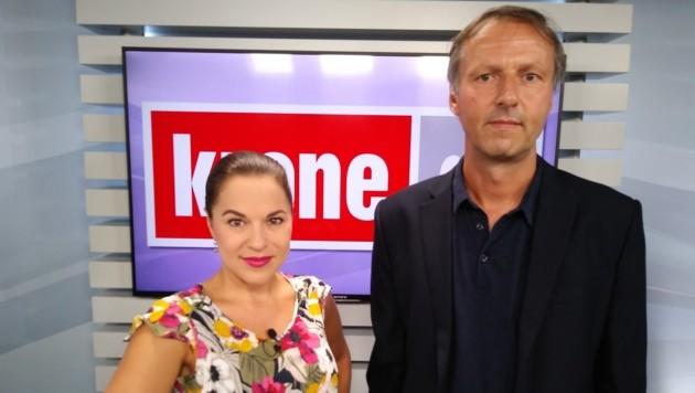 Vanessa Kuzmich mit Marcus Bachmann (Bild: krone.tv)