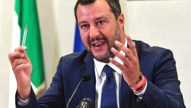 Innenminister und Lega-Boss Matteo Salvini (Bild: AFP)