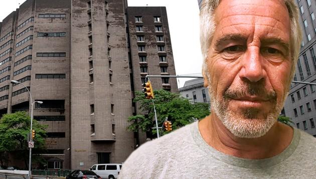 Jeffrey Epstein wurde im August 2019 tot in seiner Zelle entdeckt. (Bild: AP, AFP, krone.at-Grafik)