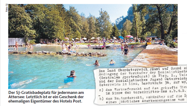 """Der SJ-Badeplatz des """"Europacamps"""" und ein Hinweis auf einen Kaufvertrag aus dem Jahr 1951!"""