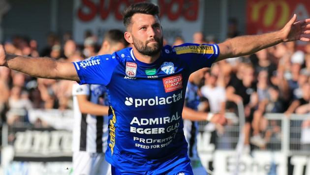 Dario Tadic kommt im Cup meistens aus dem Jubeln nicht heraus. (Bild: GEPA pictures)