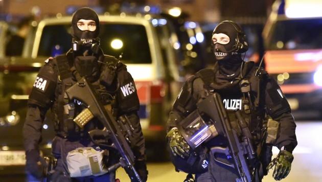 WEGA-Beamte bei einem Einsatz in Wien (Bild: APA/Hans Punz)