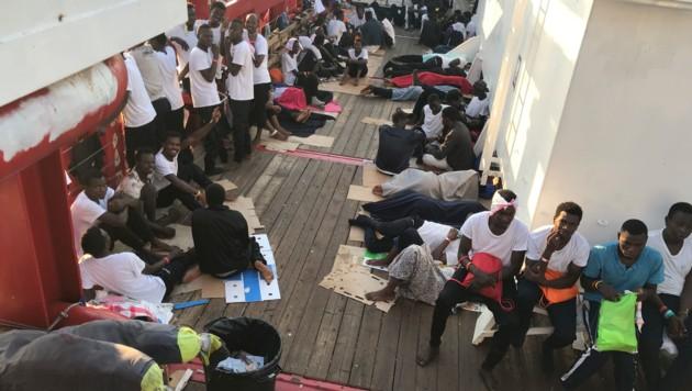 Rettungsschiff Open Arms erreichte Lampedusa