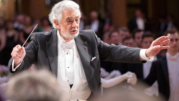 Dirigent Placido Domingo im Wiener Musikverein (Bild: APA/Georg Hochmuth)
