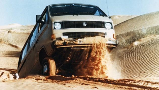 Auf Wunsch gab es den T3 auch mit Allradantrieb. (Bild: Volkswagen)
