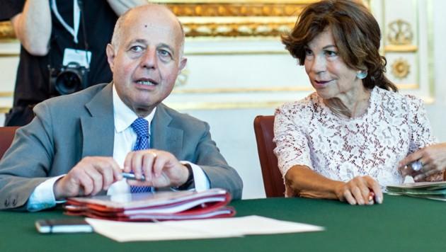 Justizminister Jabloner (mit Kanzlerin Brigitte Bierlein)