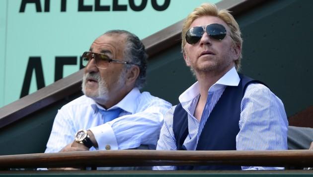 Ion Tiriac mit Boris Becker (Bild: AFP)
