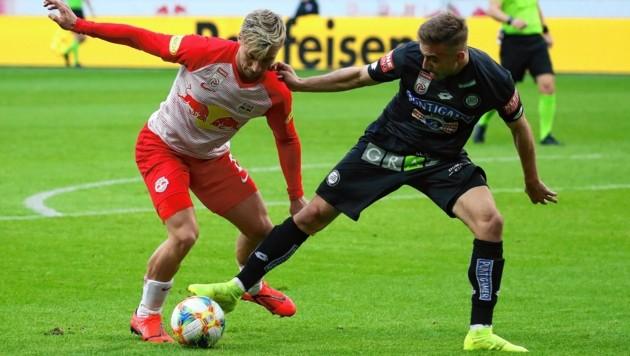 Sandi Lovric (r.) kickte im Frühjahr noch für Sturm. Nun spielt er in der Schweiz bei Lugano. (Bild: Kronen Zeitung)
