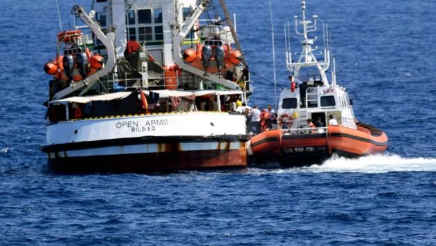 NGO-Schiff Open Arms: Gericht ordnet Landung an