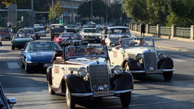 Die Vienna Classic Days (Archivbild) kommen zurück. Mehr als 200 Oldtimer gehen an den Start. (Bild: Vienna Classic Days/AutoSport.at)