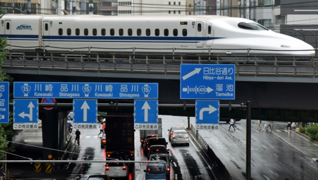 Ein Shinkansen-Zug in Tokio (Bild: KAZUHIRO NOGI/AFP)