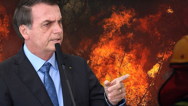 2019 ist Jair Bolsonaro zum Präsidenten Brasiliens gewählt worden. (Bild: APA/AFP/EVARISTO SA, APA/AFP/STR, krone.at-Grafik)