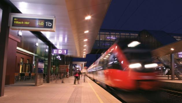 Der Hauptbahnhof Villach ist ein Drehkreuz für den S-Bahn-Verkehr.