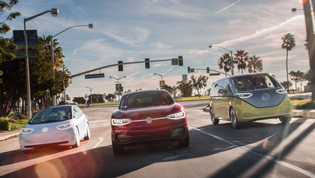 VW plant eine ganze Flotte von E-Autos (Bild: Volkswagen)