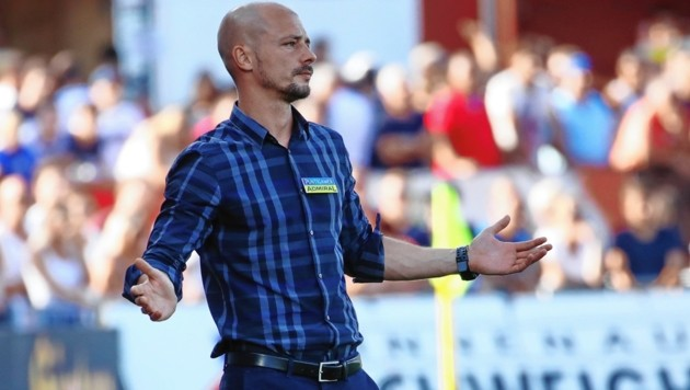 Sturm-Trainer Nestor El Maestro (Bild: Sepp Pail)
