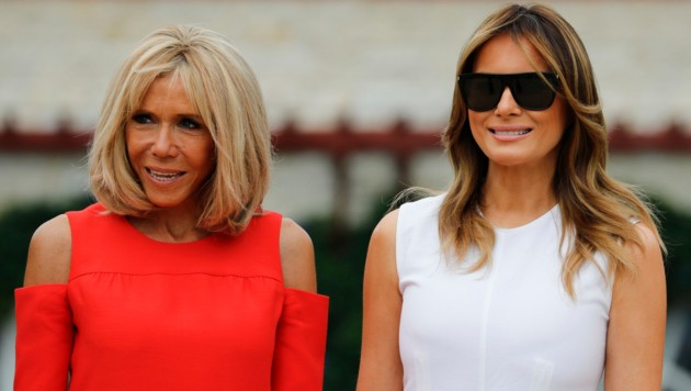 Brigitte Macron und Melania Trump (Bild: AFP)