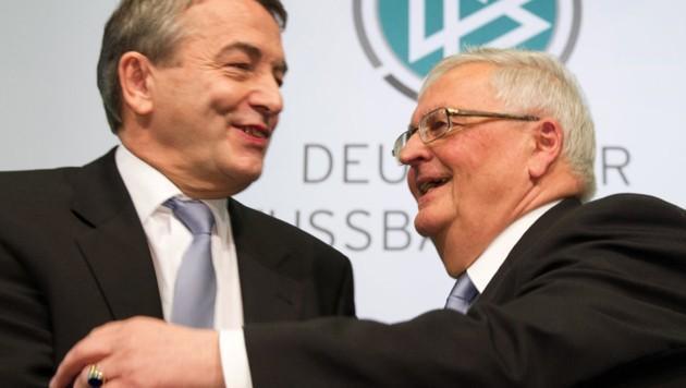 Wolfgang Niersbach (69) und Theo Zwanziger (74) (Bild: AFP)