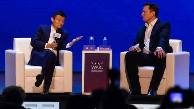 Jack Ma, Elon Musk (Bild: AFP)