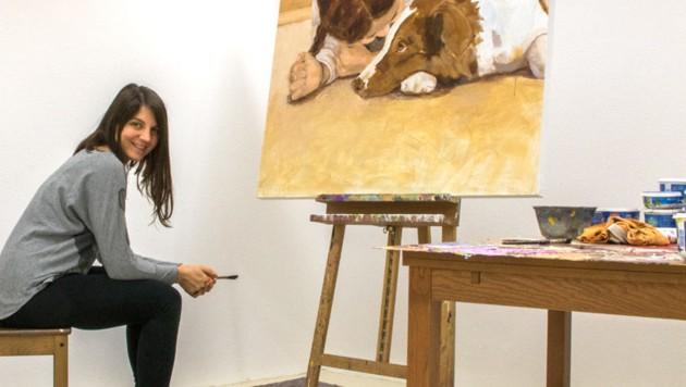 Tamara Tavella malt, was sie besonders liebt: Kinder und Tiere. (Bild: zVg)