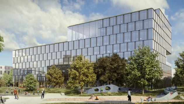 Die Pläne des neuen Finanzzentrums sind von Glas dominiert. (Bild: RLB OÖ)