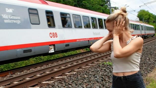Züge sind viel zu laut, meint die Bürgerinitiative. (Bild: Uta Rojsek-Wiedergut)