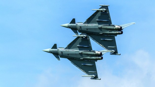 Zwei Eurofighter (Bild: HBF/Daniel Trippolt)