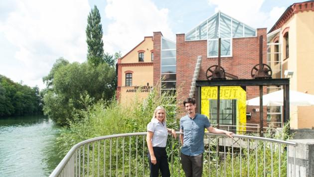 Neue Spitze im Museum Arbeitswelt in Steyr: Maria Vogeser-Kalt und Stephan Rosinger. (Bild: C. Zachl)