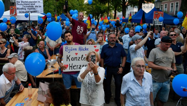 Die AfD konnte bei den Landtagswahlen in Brandenburg und Sachsen kräftig zulegen. (Bild: AFP)
