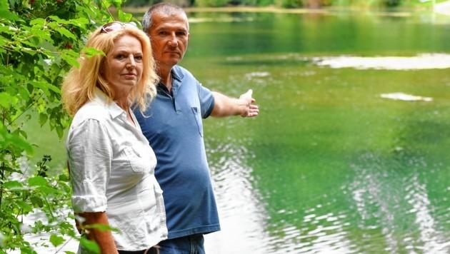 Eva Maria Gusenbauer und Günter Hölzl sind beide sehr gute Freunde des Verunglückten. (Bild: Harald Dostal)