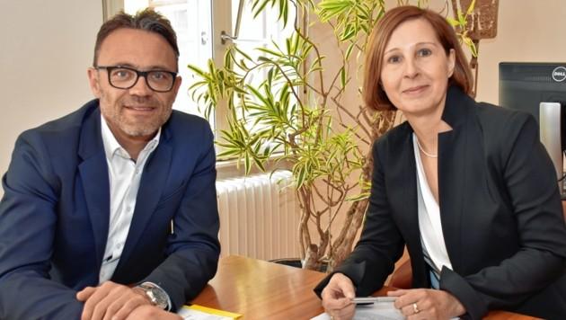 TSD-Geschäftsführer Johann Aigner und Landesrätin Gabriele Fischer