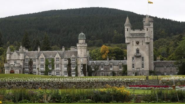 Schloss Balmoral in Schottland, die Sommerresidenz der Queen