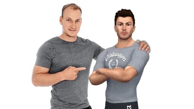 """Christopher Hörl lässt seinen digitalen Fitness-Coach """"Brad Fit"""" mehrere Übungen präsentieren. (Bild: CH Coaching)"""