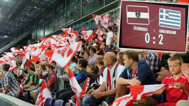 Beim letzten ÖFB-Auftritt in Salzburg unterlag das Nationalteam im Test Griechenland 0:2 (Bild: Kronen Zeitung)