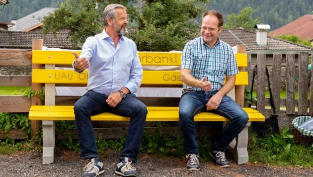 Bürgermeister Martin Huber und Thomas Pedarnig (Obmann der Unabhängigen Arbeitsgruppe Umwelt).
