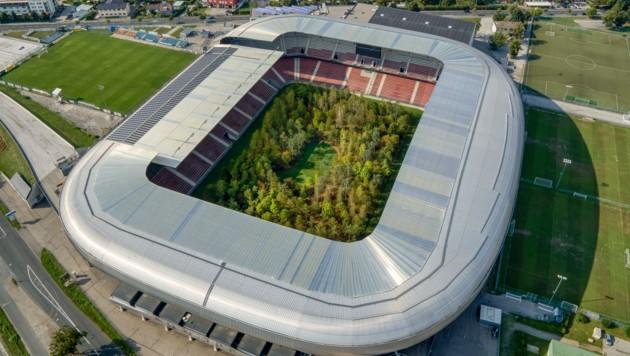 So sieht der Klagenfurter Stadionwald von oben aus. (Bild: UNIMO)
