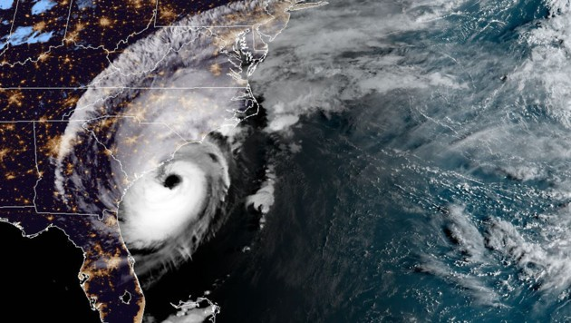 """Eine Satellitenaufnahme von Hurrikan """"Dorian"""