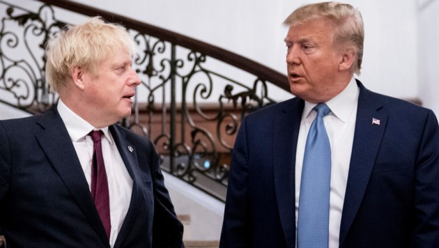 Boris Johnson und Donald Trump (Bild: AP/)