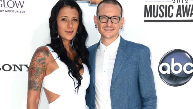 Chester Bennington mit seiner Gattin Talinda (Bild: 2012 Getty Images)