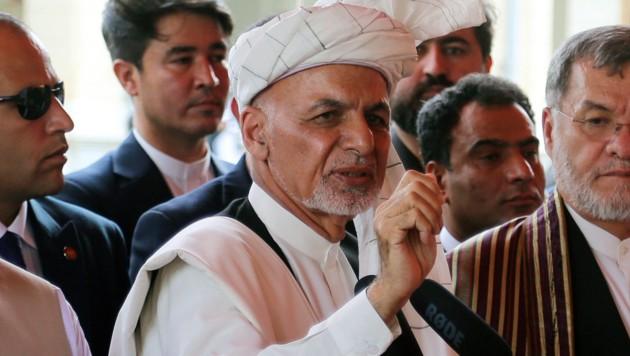 Afghanistans Präsident Ashraf Ghani (Bild: AP)